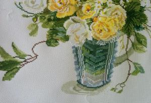 花瓶のステッチ